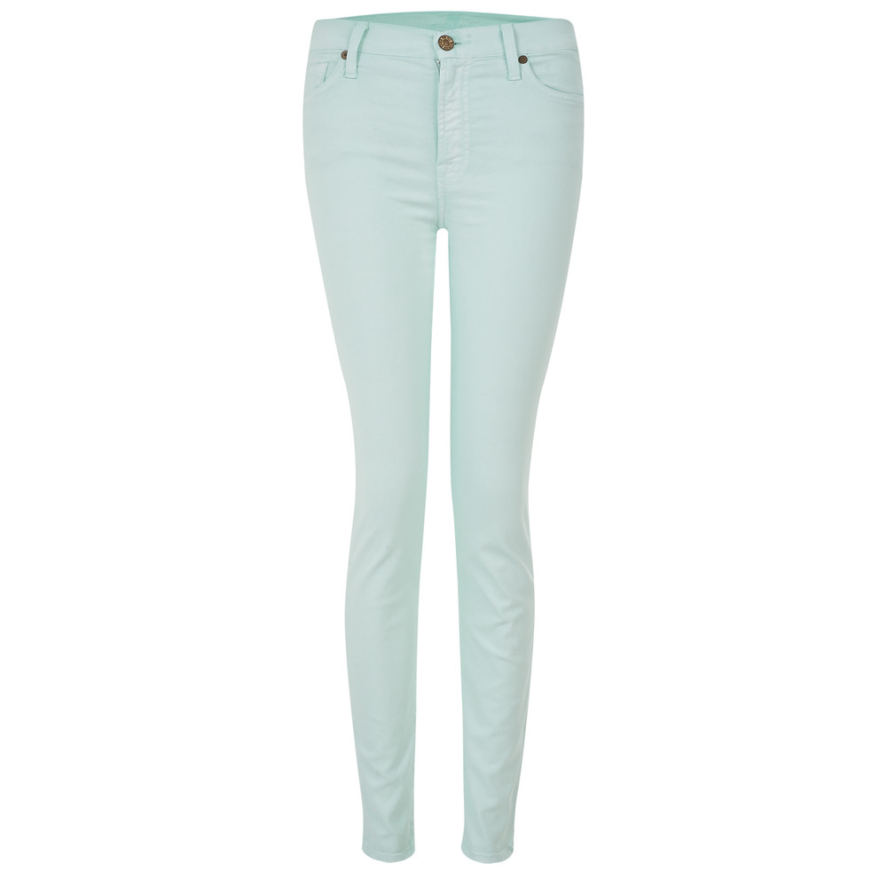 High Waisted Skinny Jeans  Green