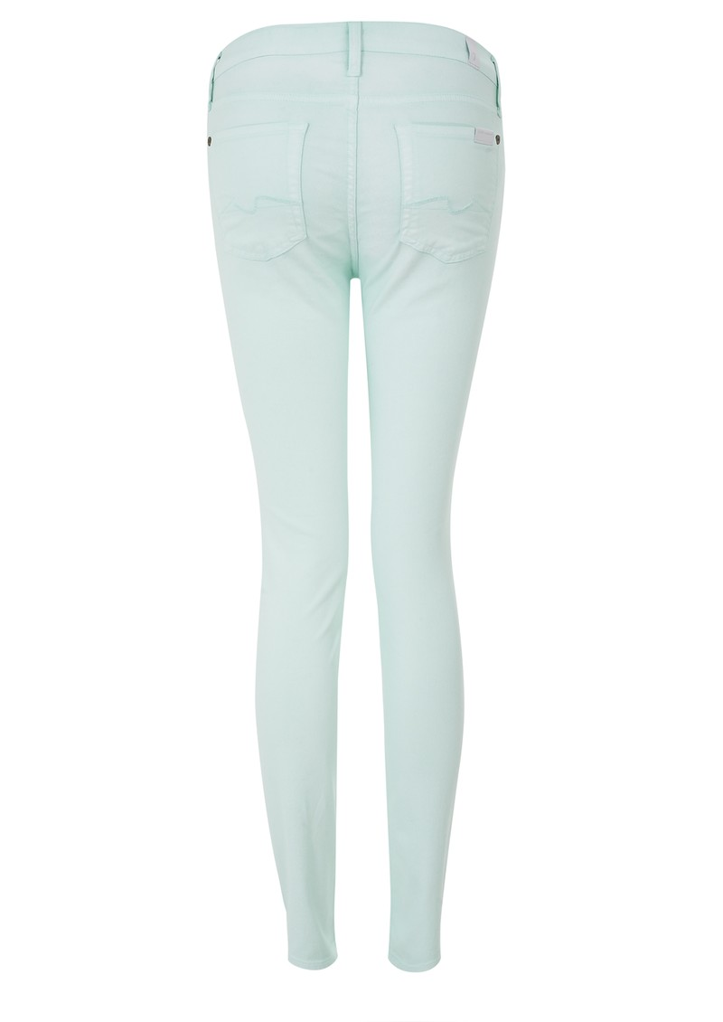 High Waisted Skinny Jeans - Green main image
