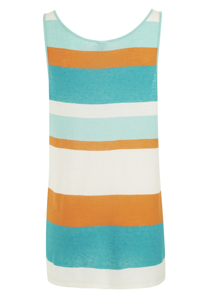 Twist and Tango Seven Striped Singlet - Aqua main image