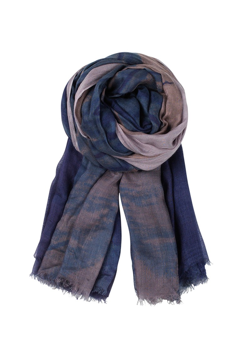 F Feathers Cashmere Blend Scarf - French Blue main image