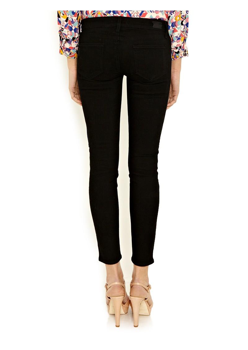 Paige Denim Ultra Skinny Pipeline Jeans - Black main image