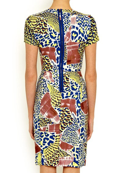 Antik Batik Arly Pencil Dress - Yellow main image
