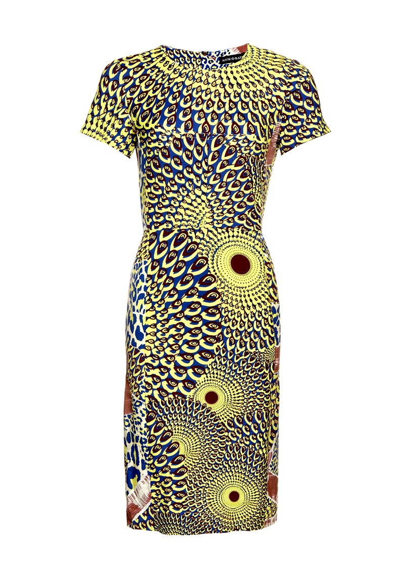Arly Pencil Dress - Yellow main image
