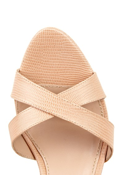 Lola Cruz Platform Open Toe Sandals - Nude main image
