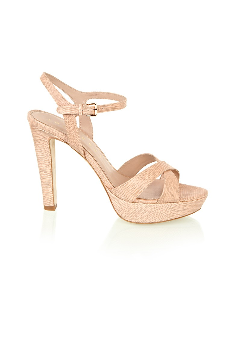 Platform Open Toe Sandals - Nude main image
