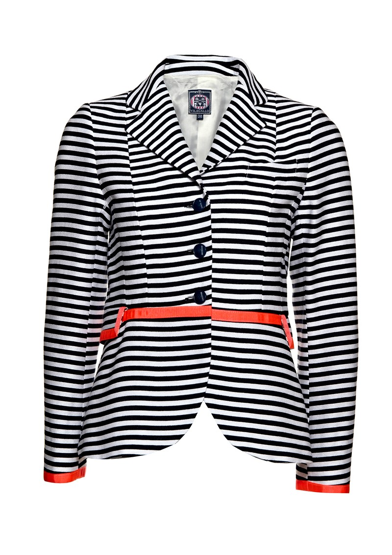 Vilagallo Forest Stripe Blazer - Stripes main image