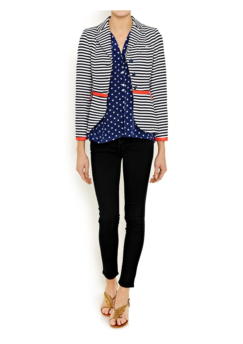 Miki Polka Dot Shirt - Navy main image
