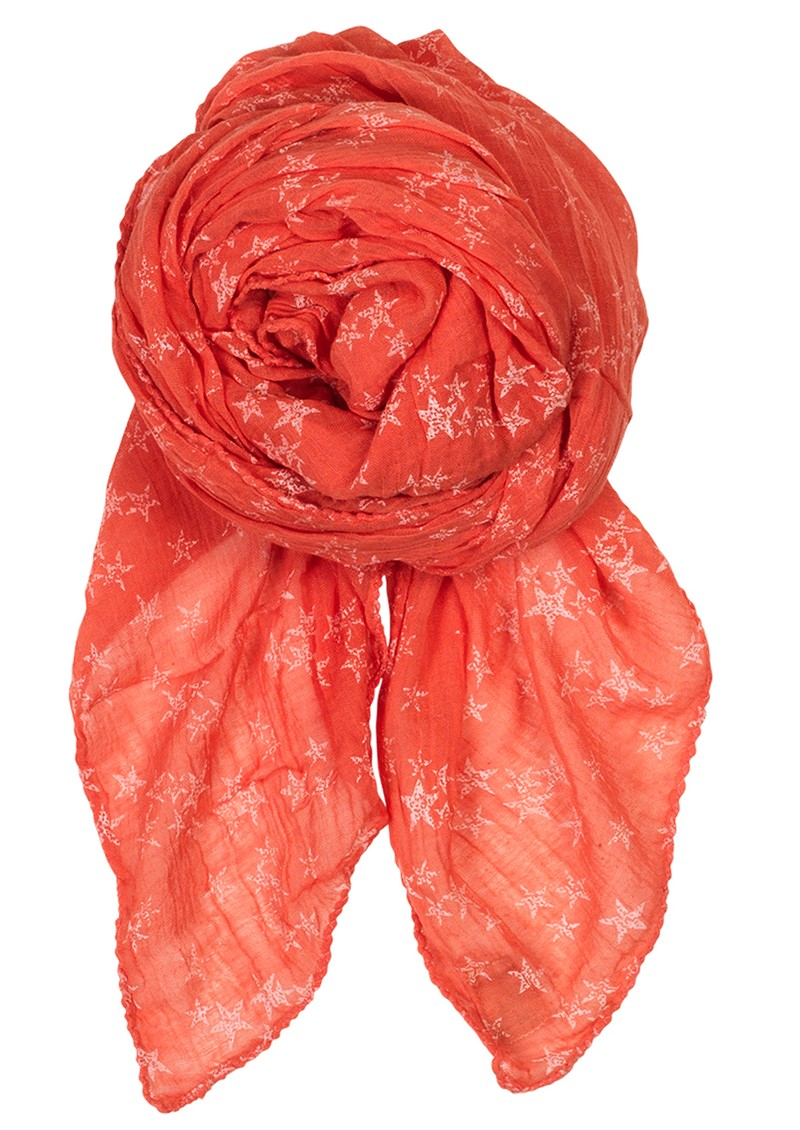 D Faded Star Scarf - Coral Dream main image