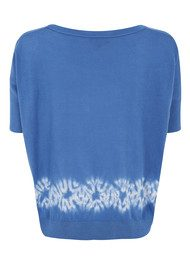 Great Plains Formenterra Tie - Dye Top - Blue & Pavlova