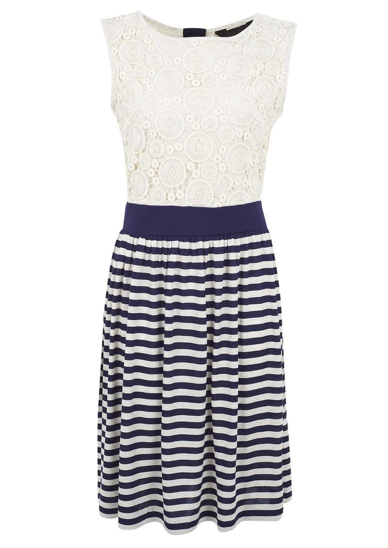 Great Plains Liliana Stripe Jersey Dress - Sea & Natural  main image