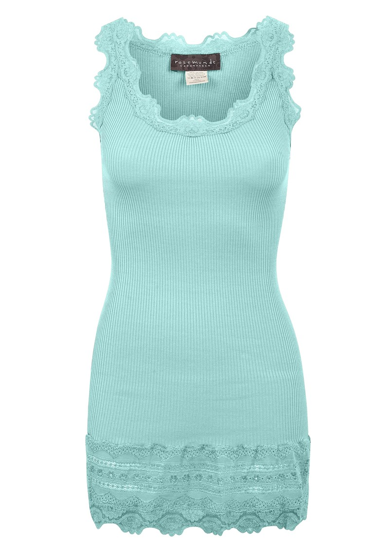 Rosemunde Wide Lace Silk Blend Vest - Ocean main image