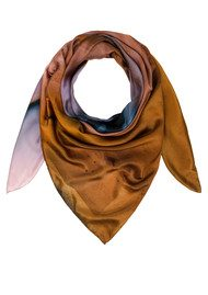 Weston Scarves Agate Silk Scarf - Tan