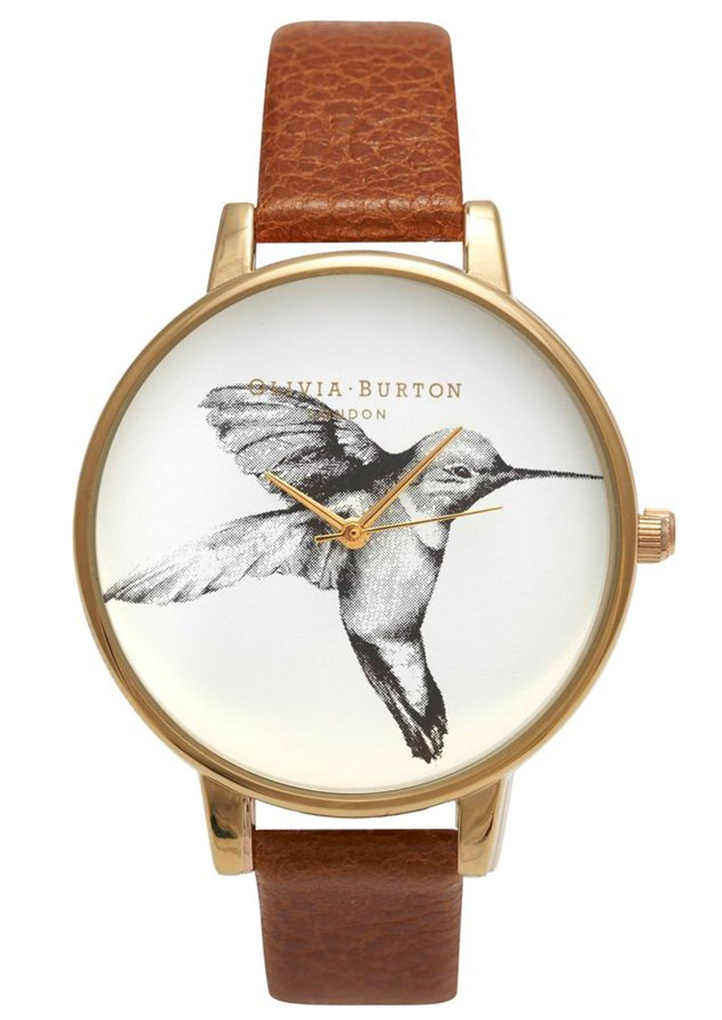 Exclusive Big Dial Hummingbird Watch - Tobacco main image