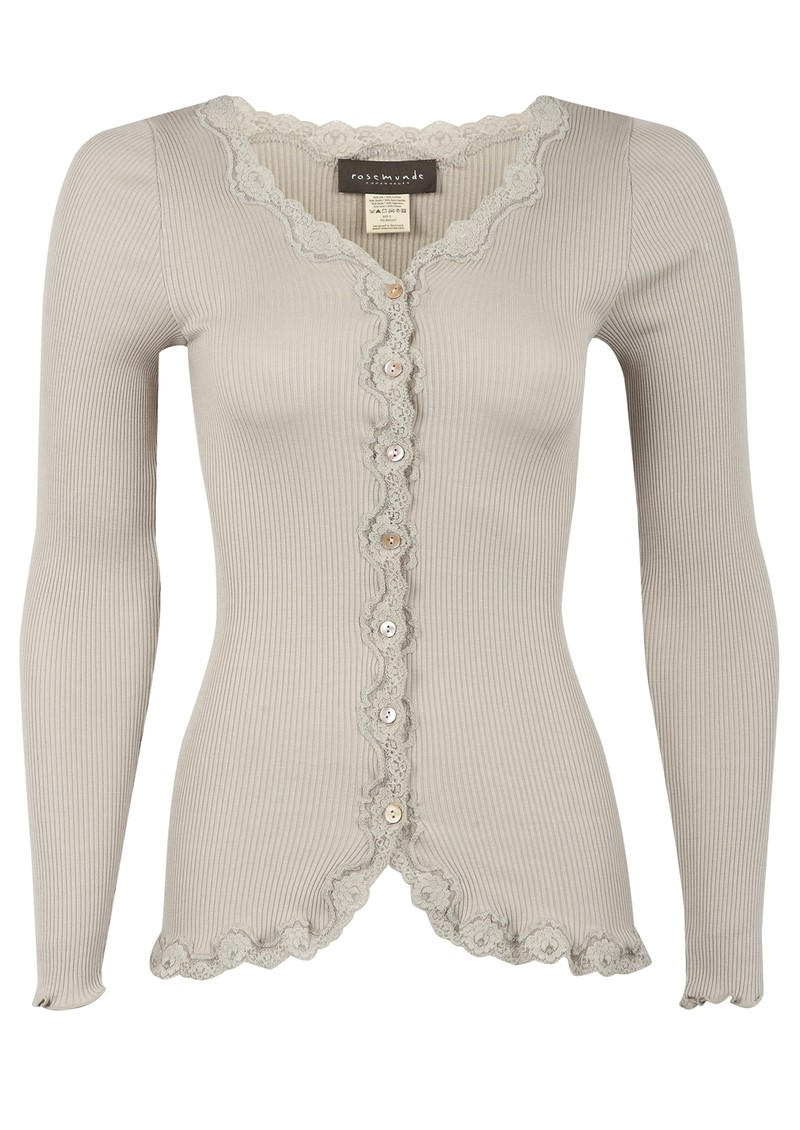 Silk Blend Cardigan - Beige Grey main image