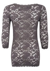 Rosemunde Lace 3/4 Sleeve Top - Rabbit
