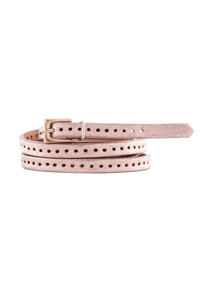 Orla 2 Double Wrap Skinny Belt - Rose Gold main image