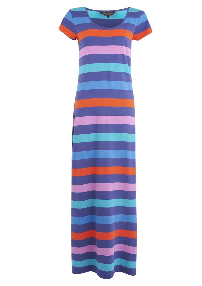 Tanni Striped Maxi Dress - Azaelia Combo main image