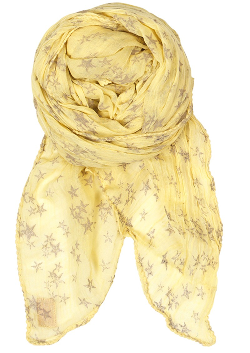 D-Faded Star Scarf - Lemonade main image