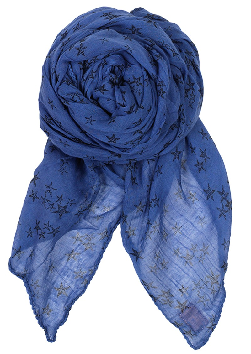 D-Faded Star Scarf - Highlight Blue main image