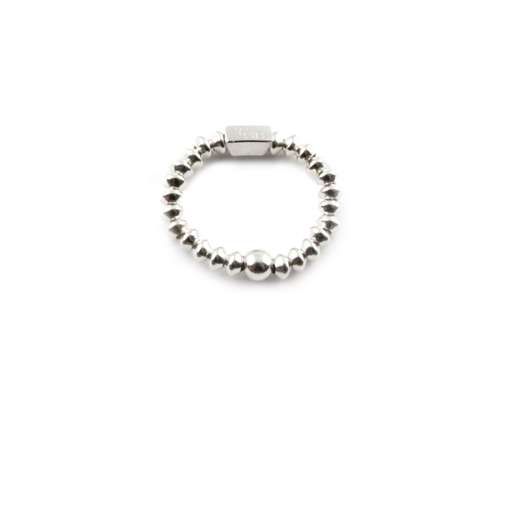 Mini Disc Ring - Silver