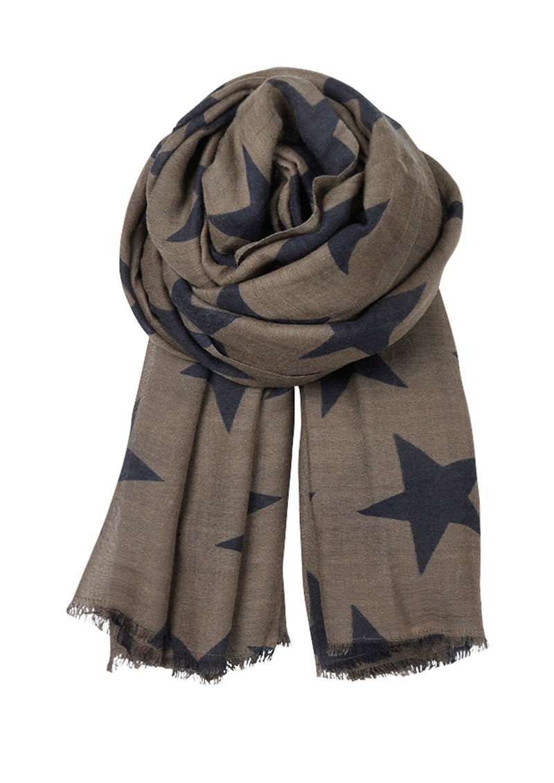 Becksondergaard E Supersize Nova Star Wool & Silk Blend Scarf - Chocolate Chip main image