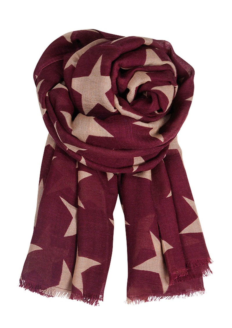E Supersize Nova Star Wool & Silk Blend Scarf - Grape Wine main image