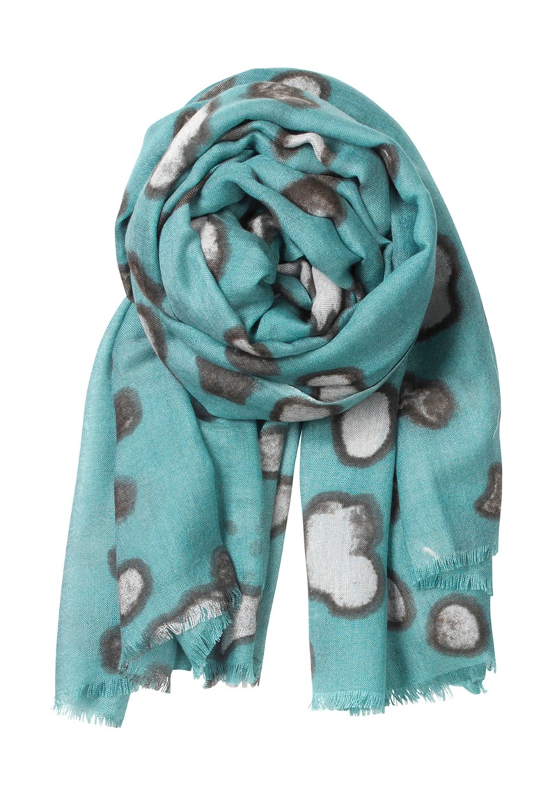 Becksondergaard E Winter Light Wool & Silk Blend Scarf - Mineral Green main image