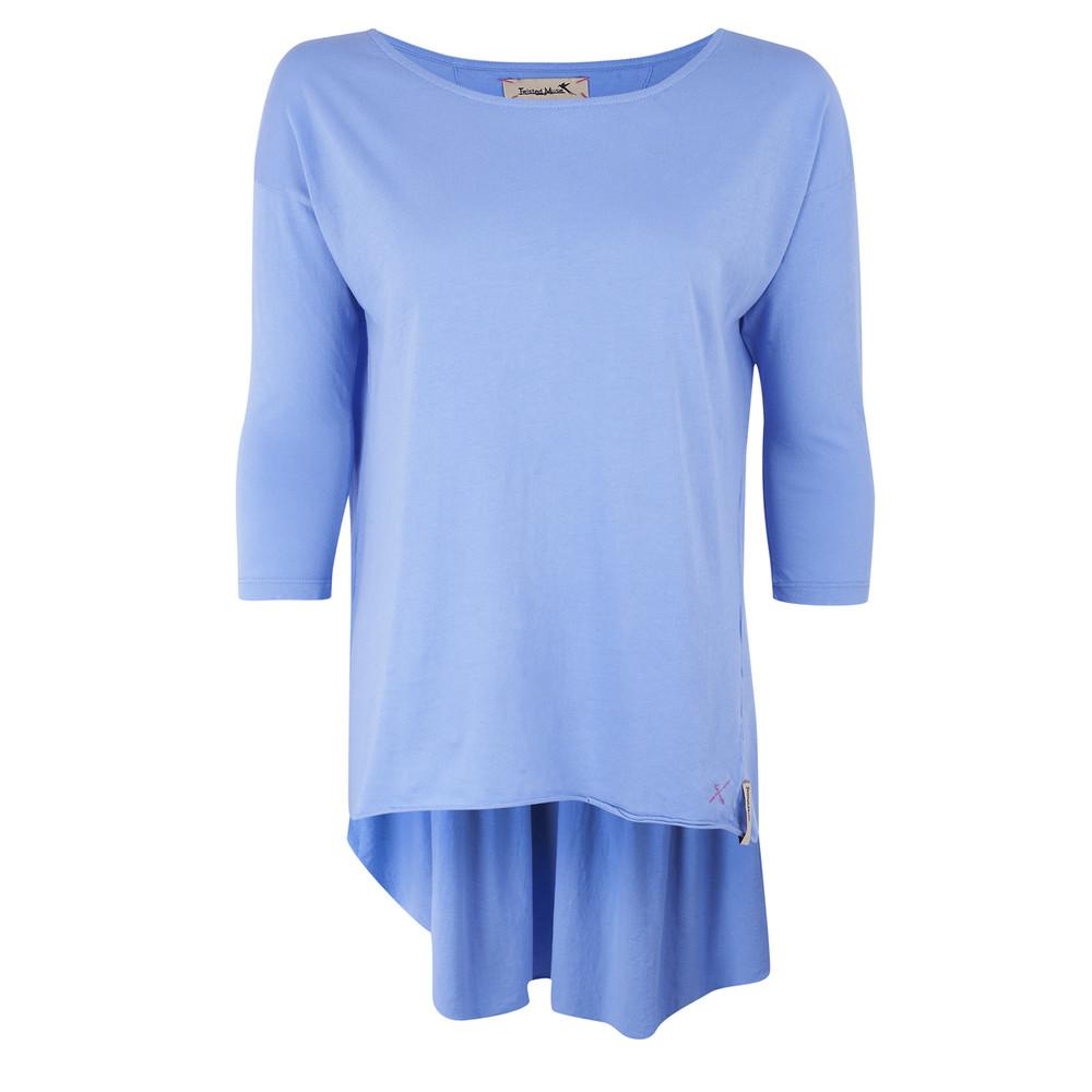 Emily 34 Sleeve Tee  Power Blue