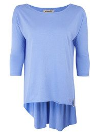 Twisted Muse Emily 3/4 Sleeve Tee - Power Blue