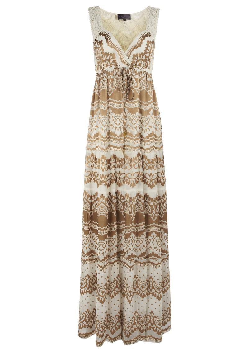 Hale Bob Long Silk Lace Maxi Dress - Ivory main image