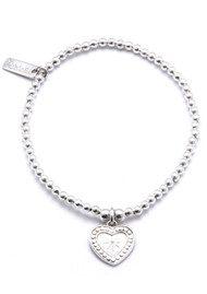 ChloBo Cute Charm Star Heart Bracelet - Silver