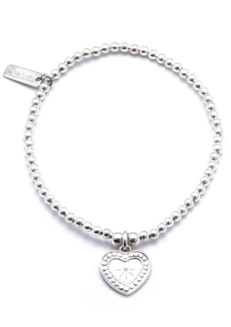 ChloBo Cute Charm Star Heart Bracelet - Silver main image