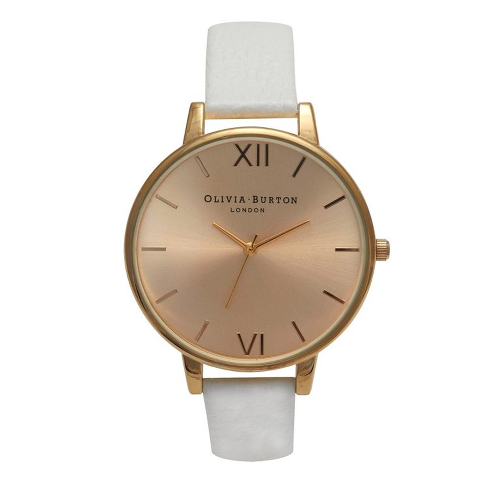 Big Gold Dial Watch - White