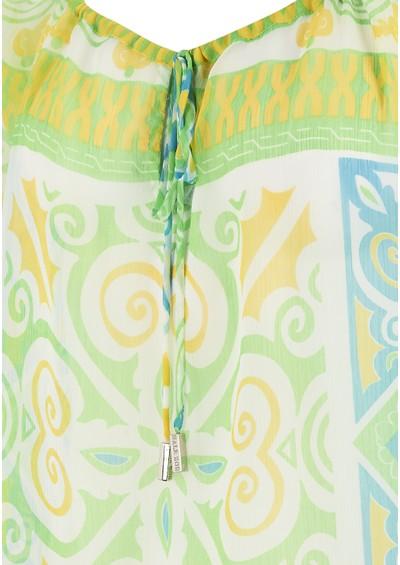 Hale Bob Retro Print Kaftan - Lime main image