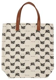 E Woolly Cat Tote - Black
