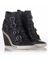 Thelma Wedge Buckle Trainers - Black