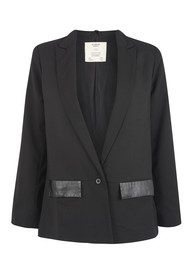 Pyrus Eros Leather Trim Jacket - Black