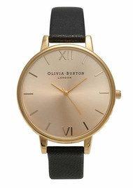Olivia Burton Big Dial Watch - Gold & Black