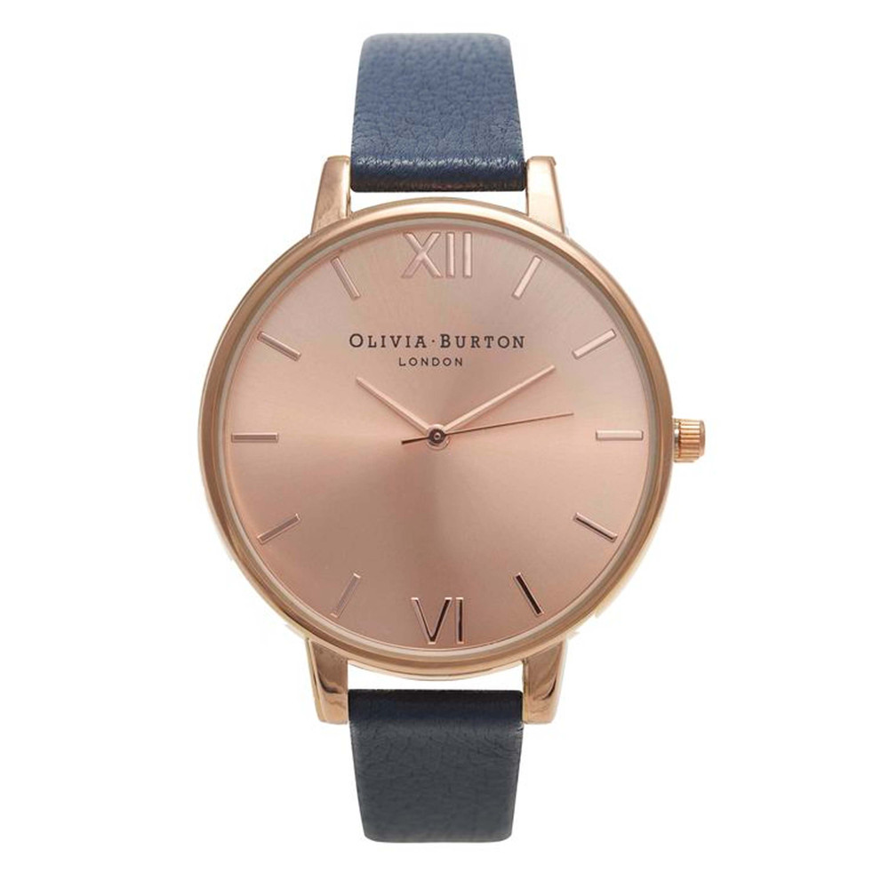 Big Dial Watch - Rose Gold & Navy