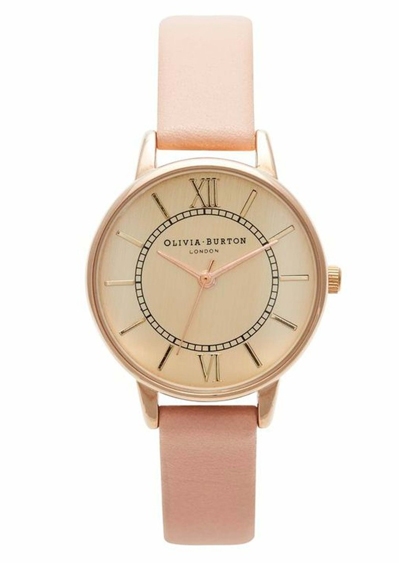 Olivia Burton Wonderland Watch - Gold & Dusty Pink main image