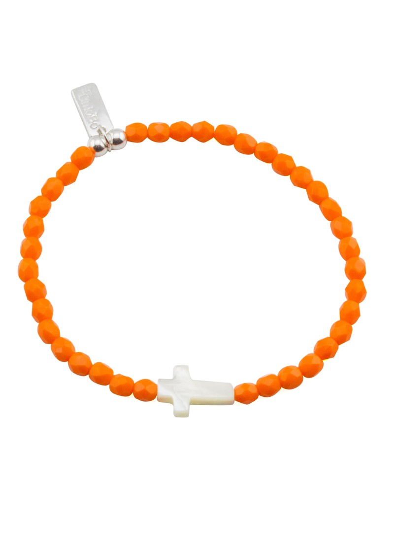 Neon Lights Cross Bracelet - Orange  main image