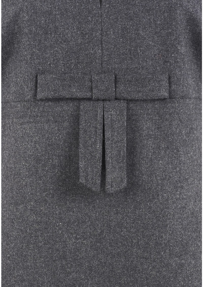 Coco Flannel Bow Dress - Grey Melange  main image