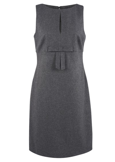 Great Plains Coco Flannel Bow Dress - Grey Melange  main image