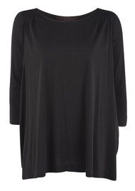 Great Plains Vendetta Jersey Drape Top - Black