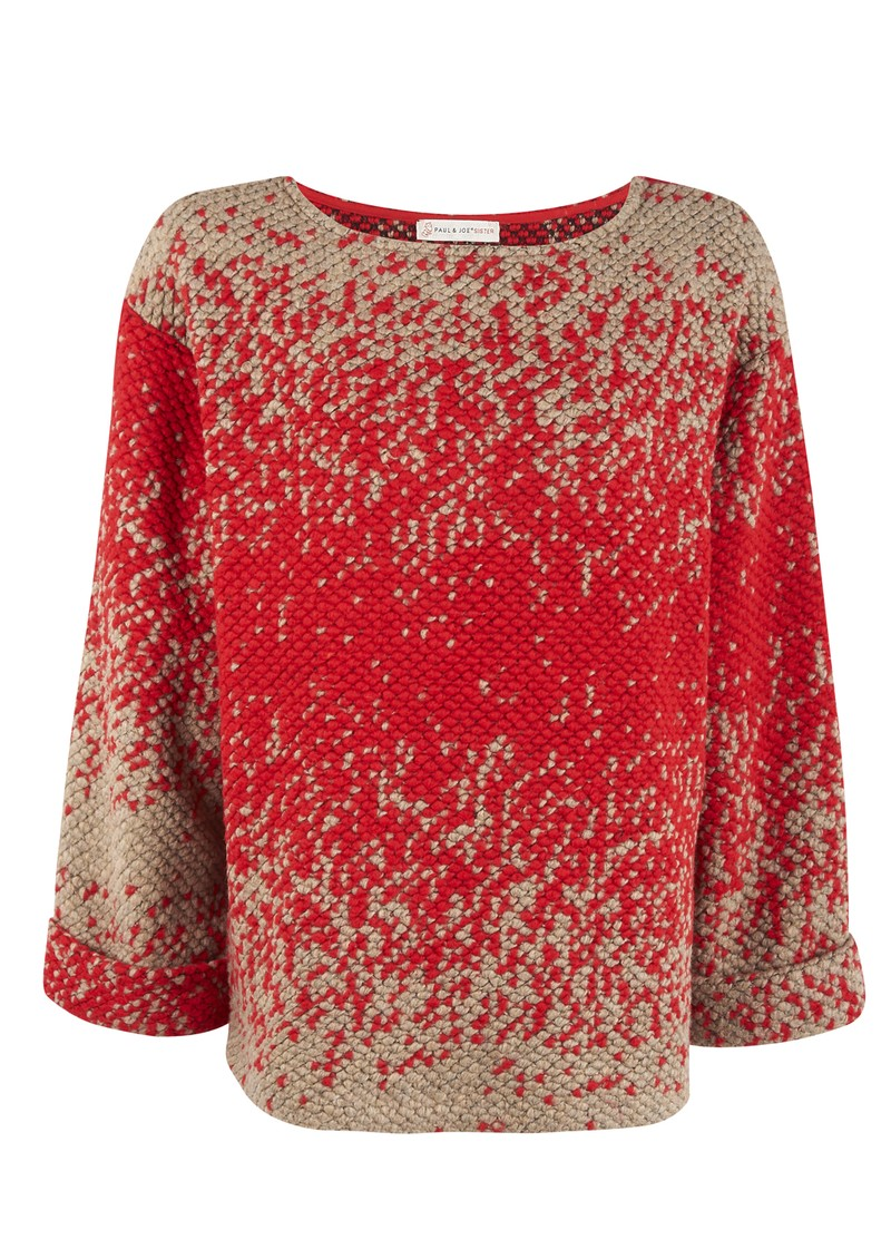 Paul and Joe Sister Moliere Knitted Pull Over - Rouge main image