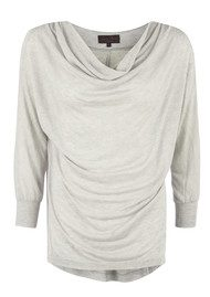 Great Plains By The Fire Drape Top - Grey