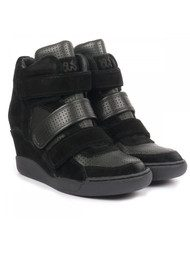 Alex High Top Wedge Trainer - Black