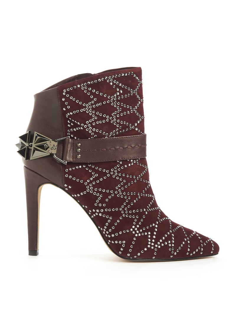 Mila Embellished Boot - Burgundy  main image
