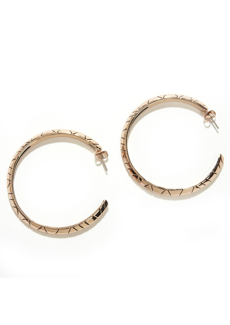 Tribal Hoop Earrings - Rose Gold main image