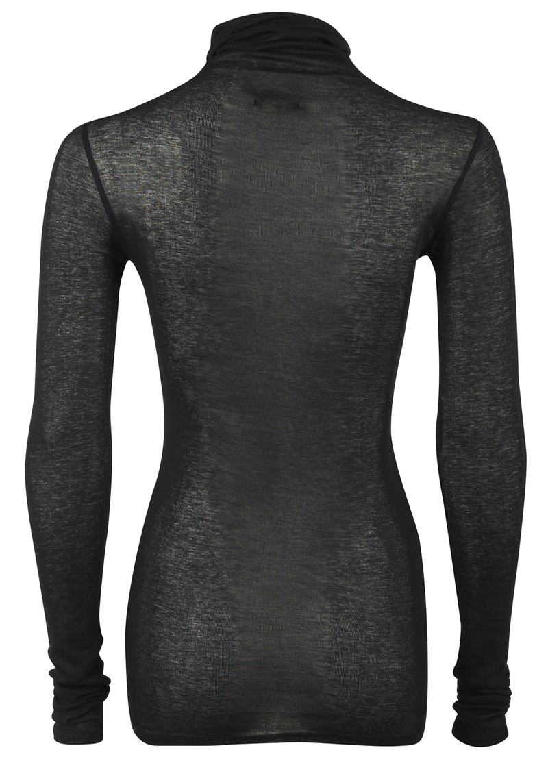 American Vintage Massachusetts Long Sleeved Polo Neck Top - Black  main image